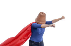 woman-superhero-red-cape-flower-pot-her-head-white-background-59563007